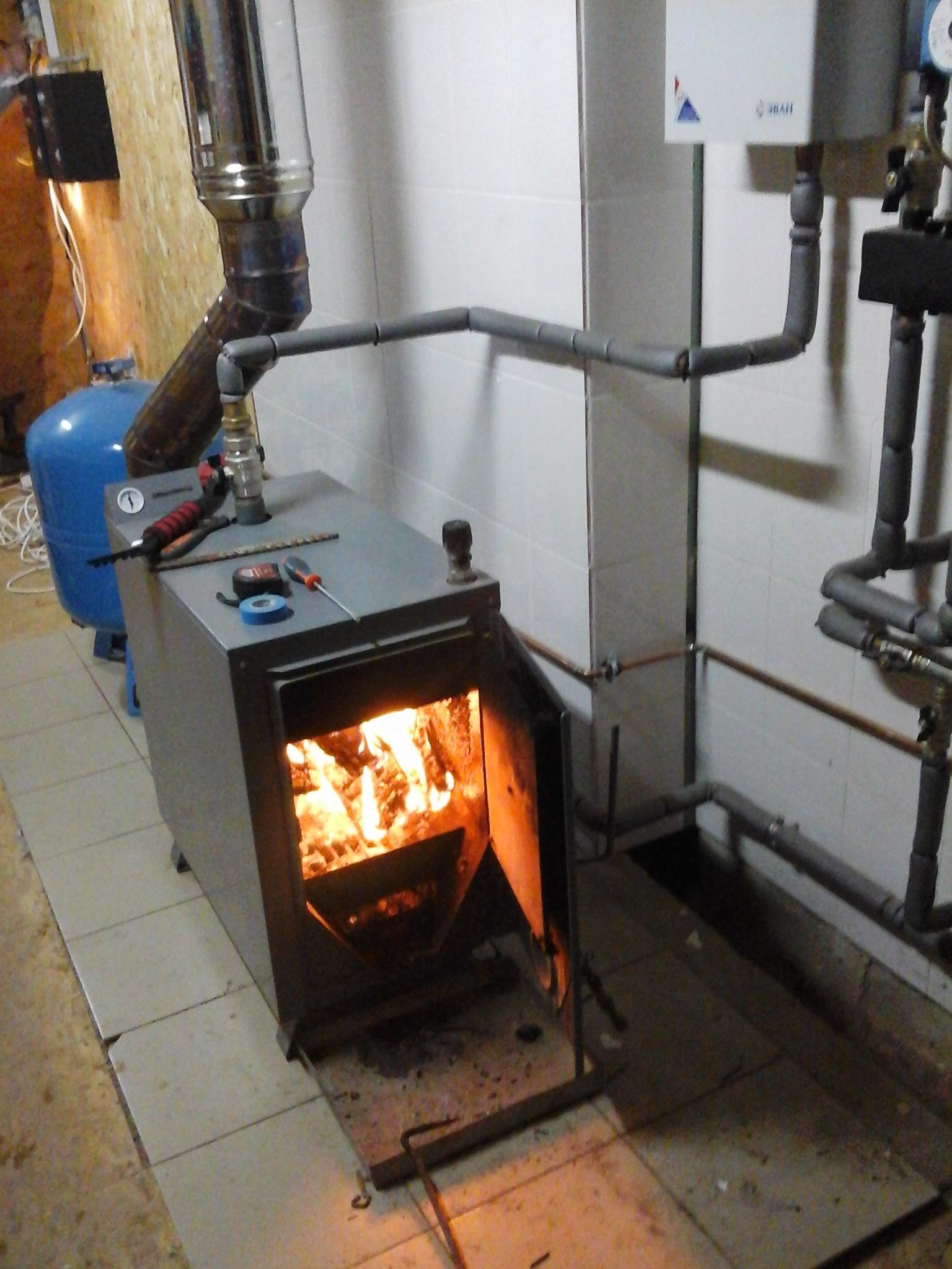 Отопление твердотопливный котел