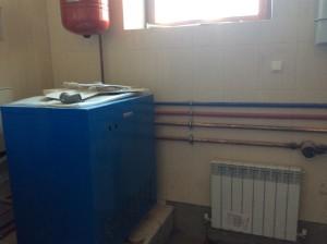 Отопление коттеджа газовым котлом